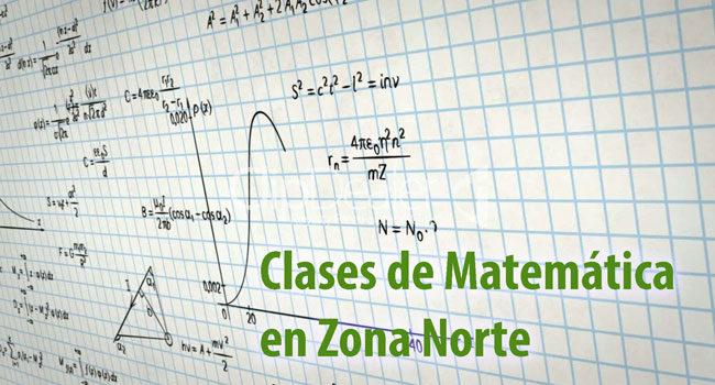 Clases de Matemática en Zona Norte