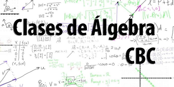 Clases de Álgebra CBC