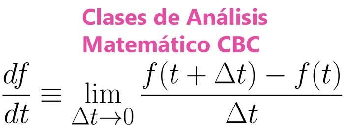 Clases Análisis Matemático CBC